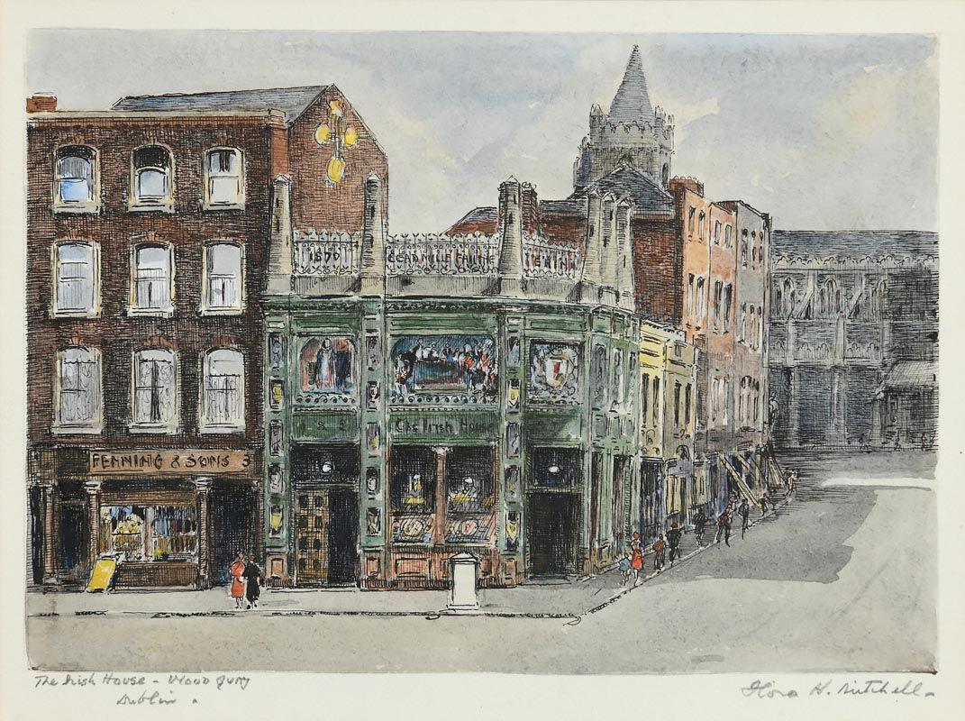 Flora Mitchell, The Irish House, Wood Quay, Dublin at Morgan O'Driscoll Art Auctions