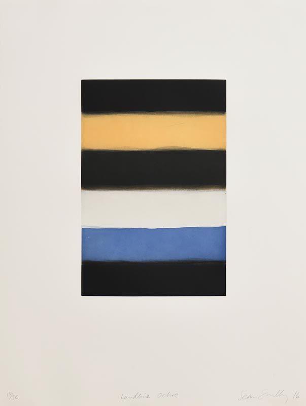 Sean Scully, Landline Ochre (2016) at Morgan O'Driscoll Art Auctions