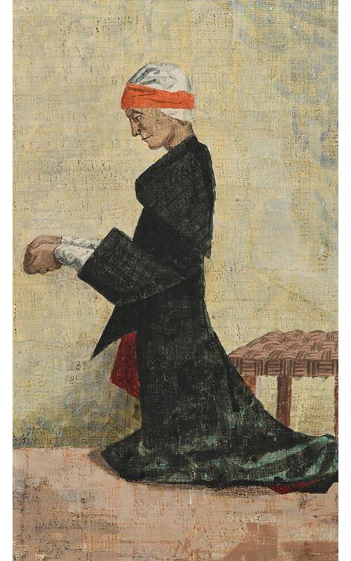 Bean ag Paidreoireacht (Woman Praying) at Morgan O'Driscoll Art Auctions