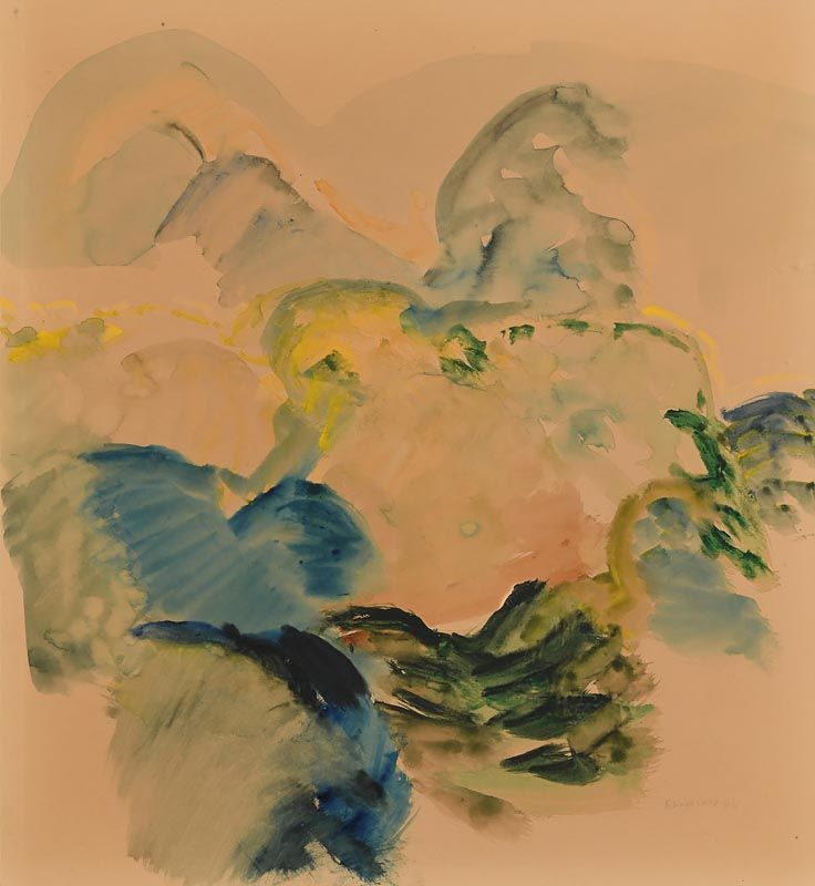 Barrie Cooke, Trees 4 (1966) at Morgan O'Driscoll Art Auctions