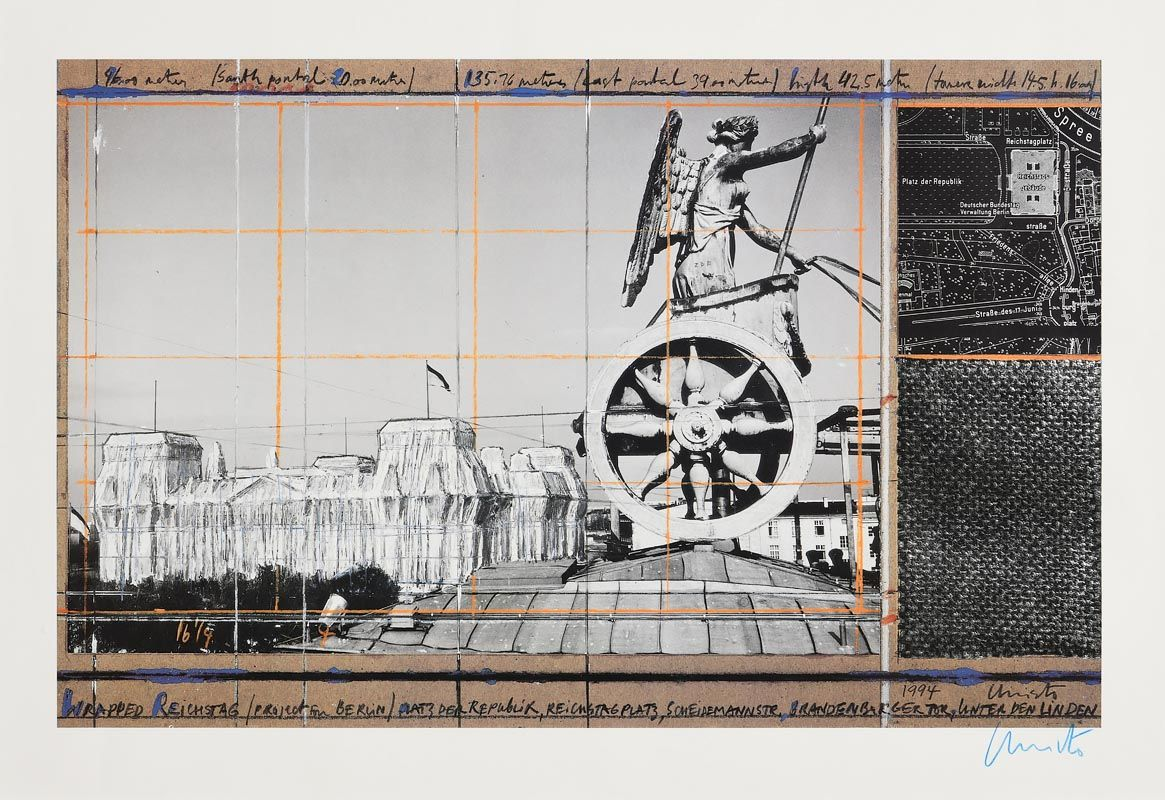 Christo, Wrapped Reichstag - Berlin Project (1994) at Morgan O'Driscoll Art Auctions