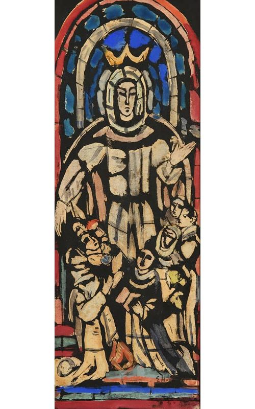 Evie Hone, Our Lady of Mercy - Design for a Stained Glass Window at Morgan O'Driscoll Art Auctions