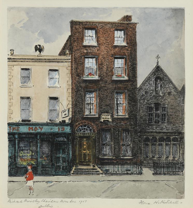Flora Mitchell, Richard Brinsley Sheridan, Bowlane,  Dublin at Morgan O'Driscoll Art Auctions