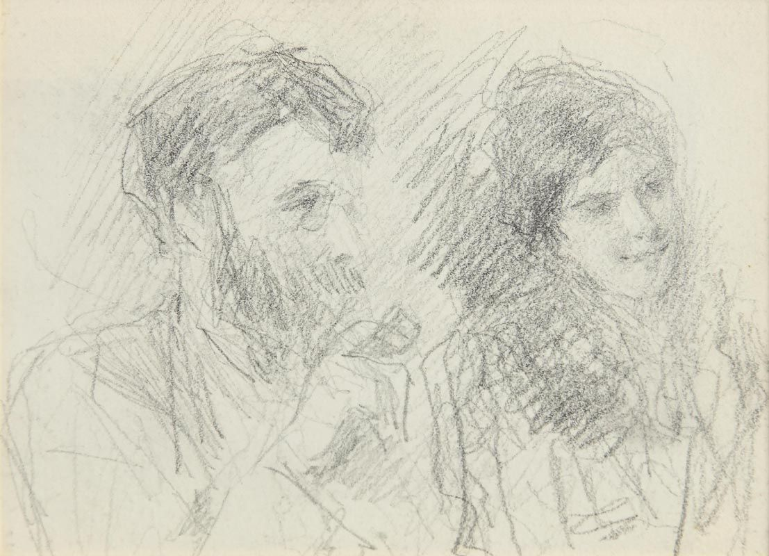 John Butler Yeats, George Russell and Mary Walker (Second Drawing Verso) at Morgan O'Driscoll Art Auctions