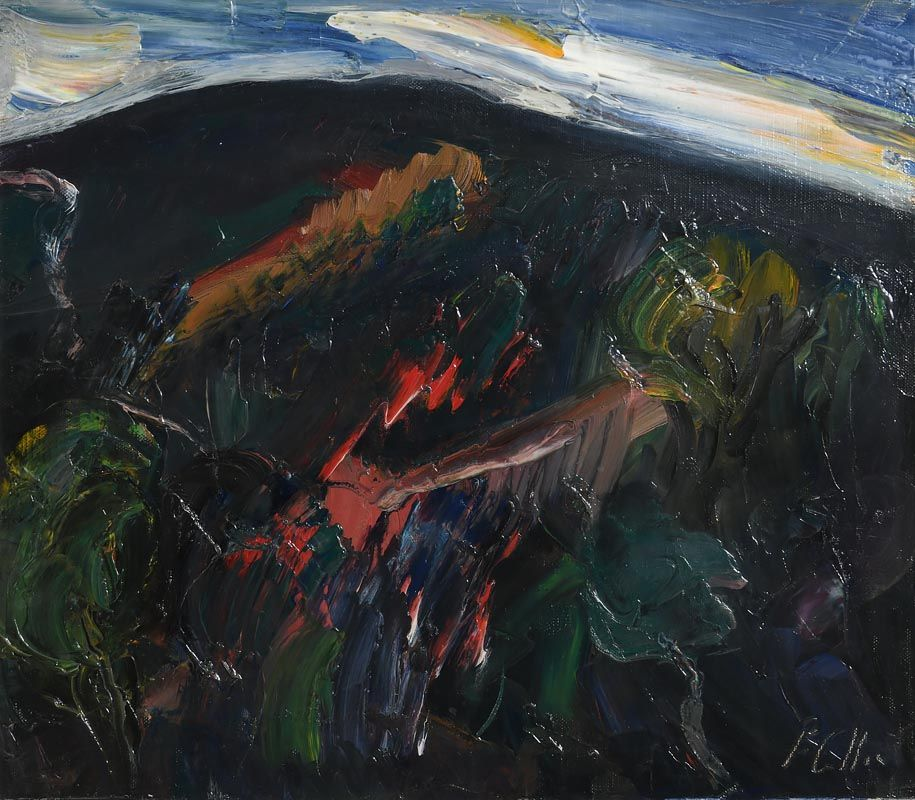 Peter Collis, Mountainside, Powerscourt at Morgan O'Driscoll Art Auctions