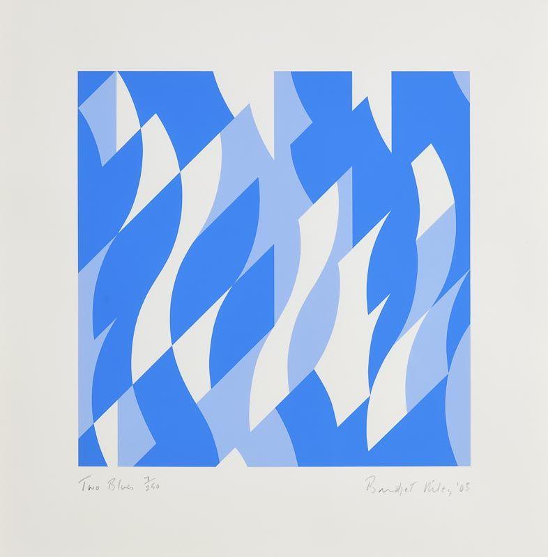 Bridget Riley, Two Blues (2003) at Morgan O'Driscoll Art Auctions