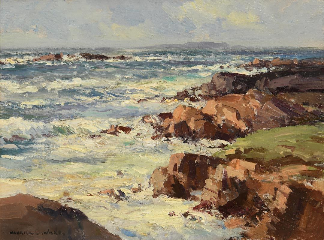 Maurice Canning Wilks, Breezy Day, North West Coast of Donegal at Morgan O'Driscoll Art Auctions