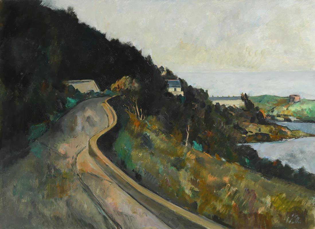 Peter Collis, Dalkey Island from Vico Road at Morgan O'Driscoll Art Auctions