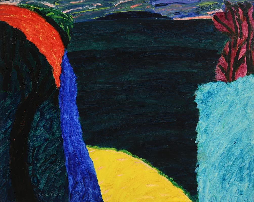 William Crozier, Yellow Strand - The Island (1989) at Morgan O'Driscoll Art Auctions