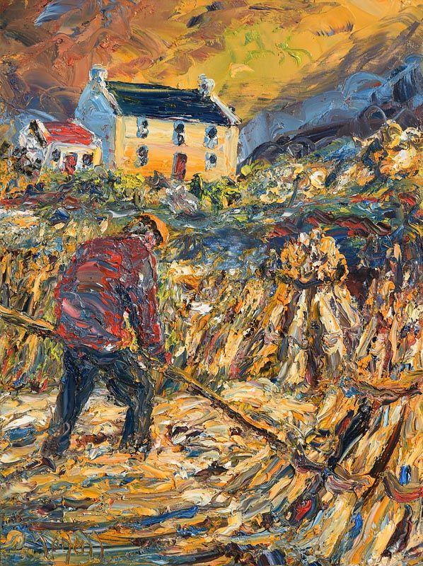 Liam O'Neill, Haymaking at Morgan O'Driscoll Art Auctions