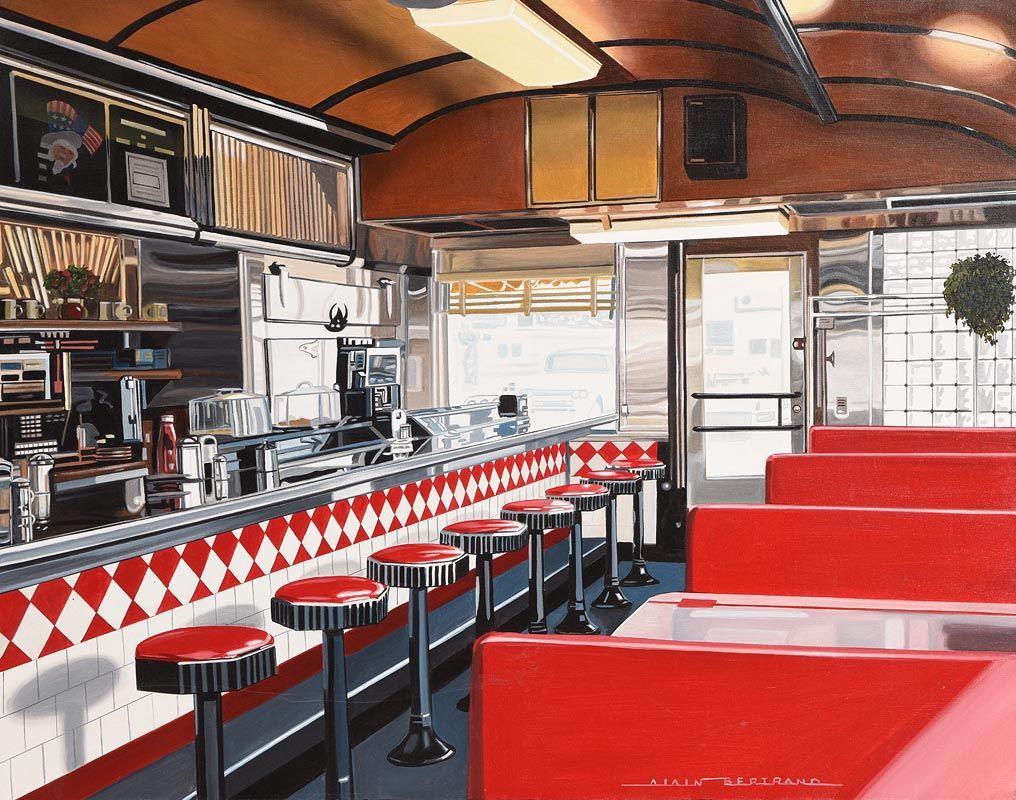 Alain Bertrand, The Diner at Morgan O'Driscoll Art Auctions