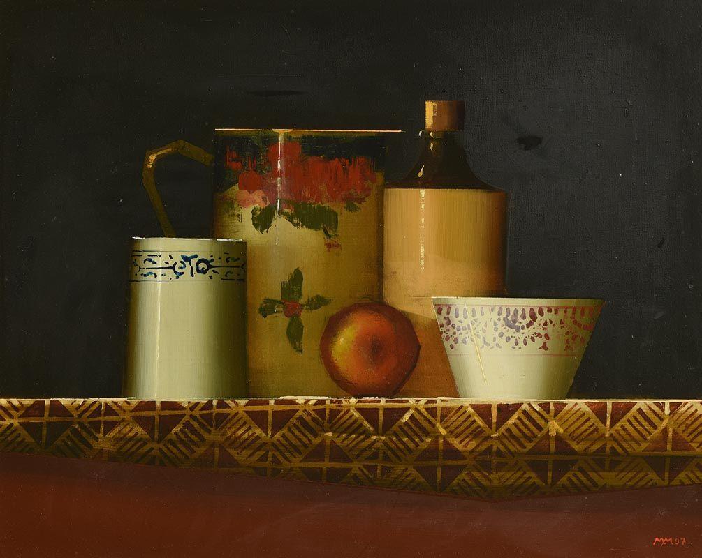 Martin Mooney, Still Life With Porcelain (2007) at Morgan O'Driscoll Art Auctions
