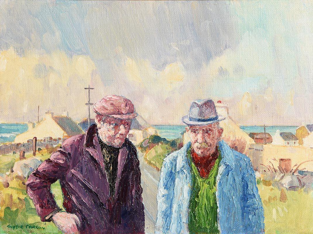 Robert Taylor, Morning Gossip (1994) at Morgan O'Driscoll Art Auctions