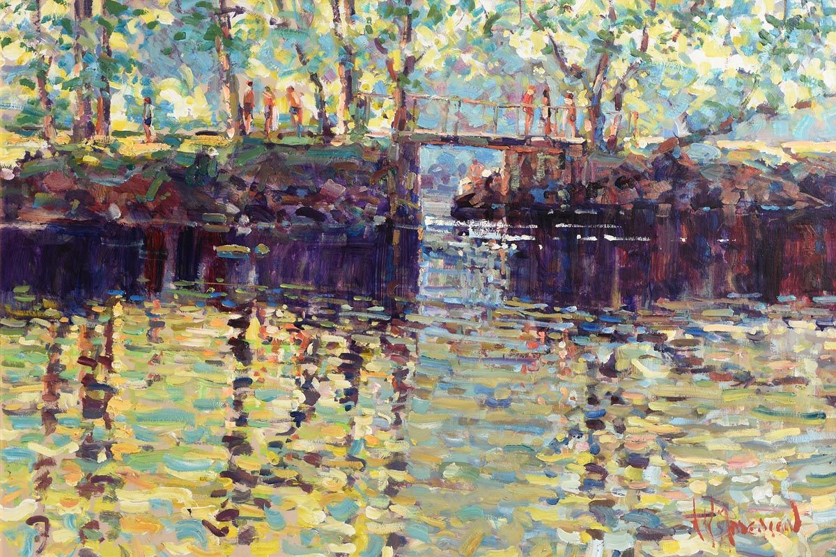 Arthur K. Maderson, September Evening, The Weir Near Lismore at Morgan O'Driscoll Art Auctions