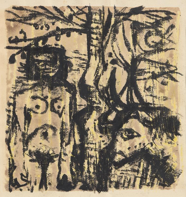 Colin Middleton, Nude, Tree and Bull at Morgan O'Driscoll Art Auctions