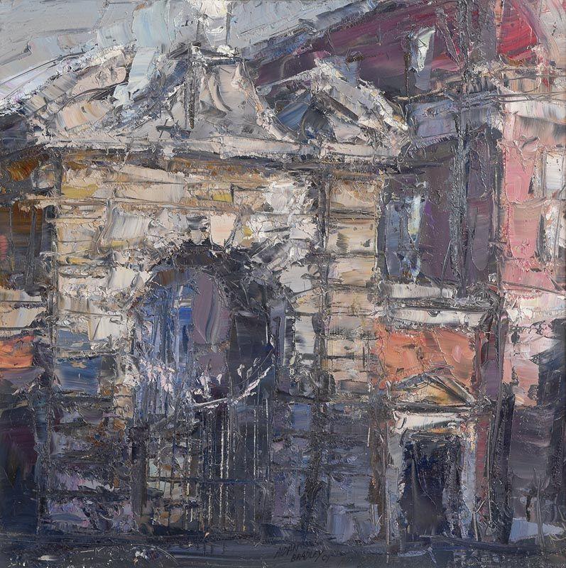 Aidan Bradley, Entrance Gates to Dublin Castle (2009) at Morgan O'Driscoll Art Auctions