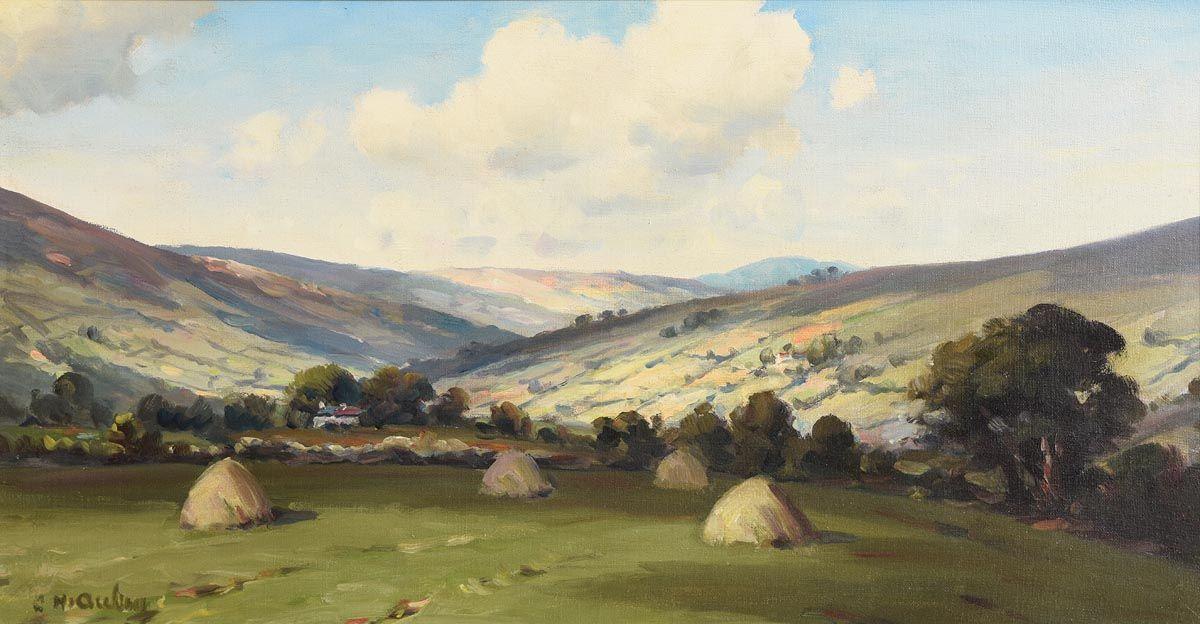 Charles J. McAuley, Looking towards Cushendun, Glens of Antrim at Morgan O'Driscoll Art Auctions