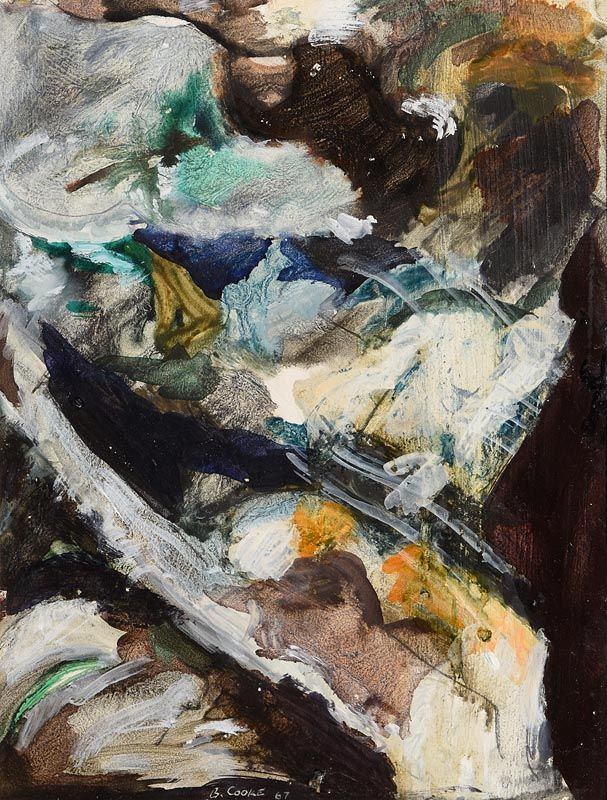 Barrie Cooke, Abstract Composition (1967) at Morgan O'Driscoll Art Auctions