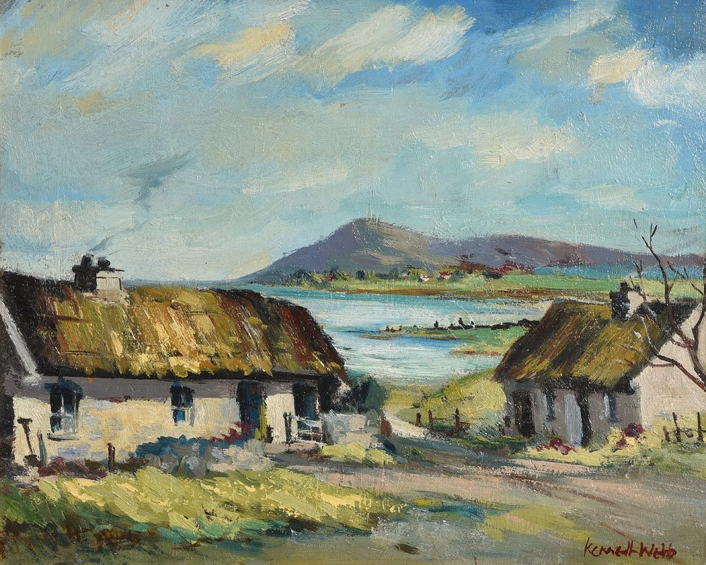 Kenneth Webb, Cottages in Co. Down (1960's) at Morgan O'Driscoll Art Auctions