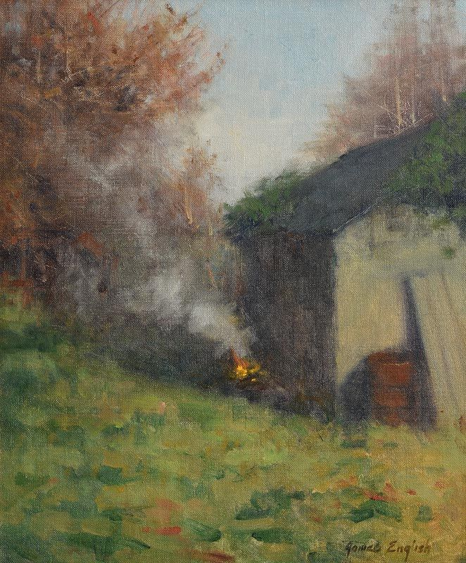 James English, Burning Leaves at Morgan O'Driscoll Art Auctions