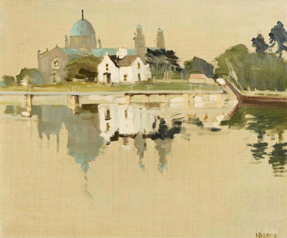 Cecil Maguire, The Cathedral, Galway (1974) at Morgan O'Driscoll Art Auctions