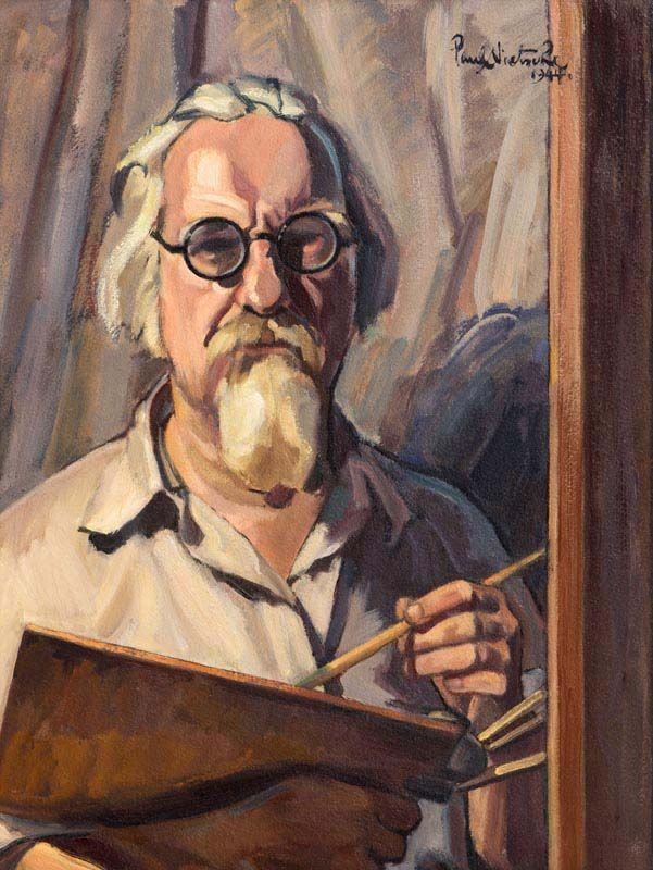 Paul Nietsche, Self Portrait (1944) at Morgan O'Driscoll Art Auctions