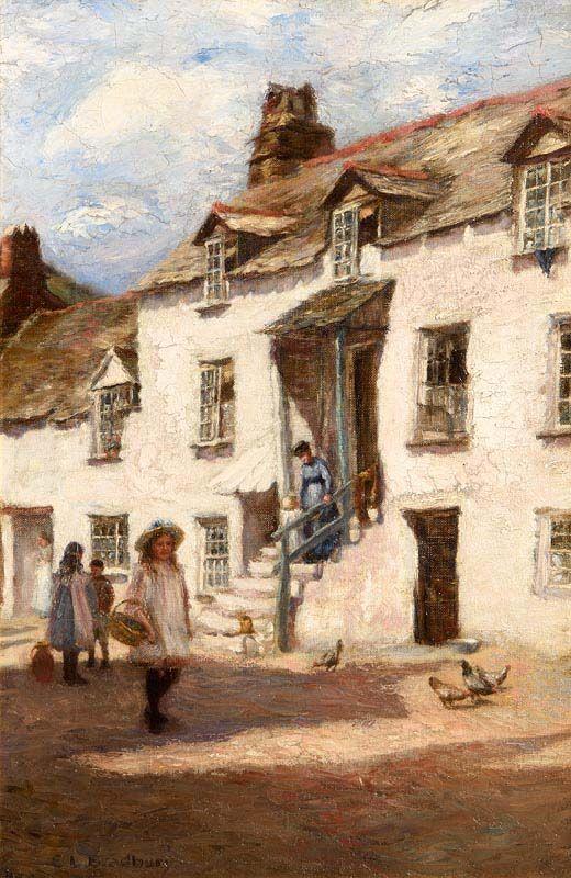 E Louise Bradbury, A Sunny Afternoon, Polperro, Cornwall at Morgan O'Driscoll Art Auctions