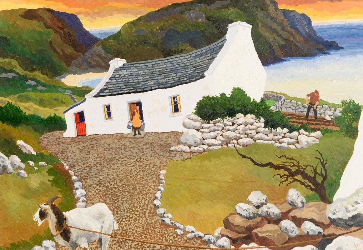 James MacIntyre, Goat - Donegal at Morgan O'Driscoll Art Auctions