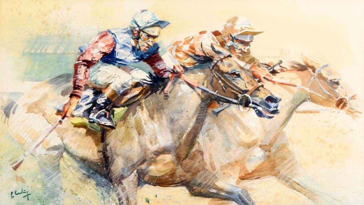 Peter Curling, The Last Furlong at Morgan O'Driscoll Art Auctions