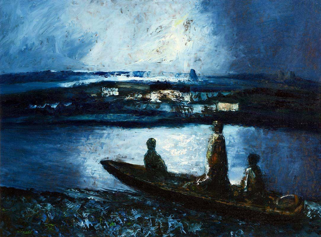 Daniel O'Neill, Three Boatmen at Morgan O'Driscoll Art Auctions
