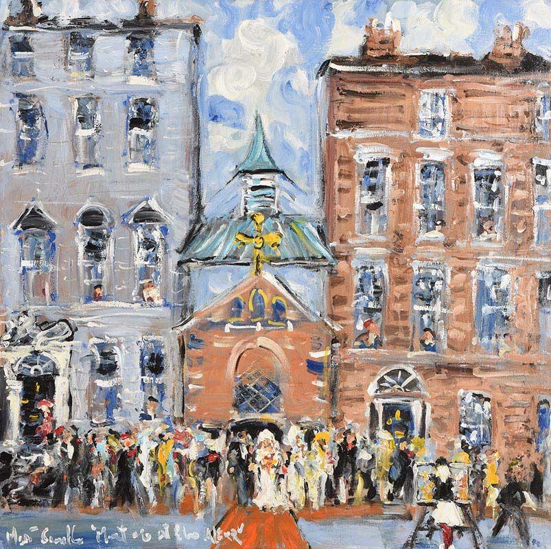 Marie Carroll, Wedding, University Church at Morgan O'Driscoll Art Auctions
