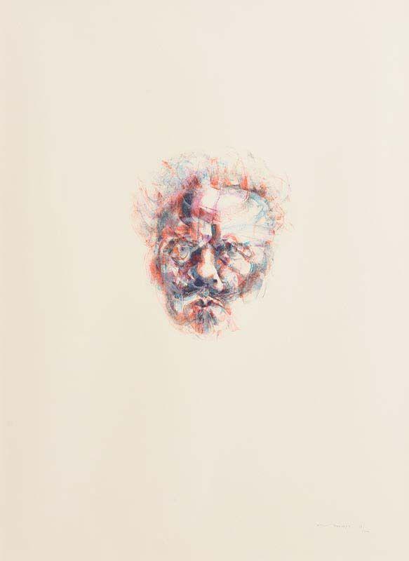 Louis Le Brocquy, Hommage A Strindberg at Morgan O'Driscoll Art Auctions