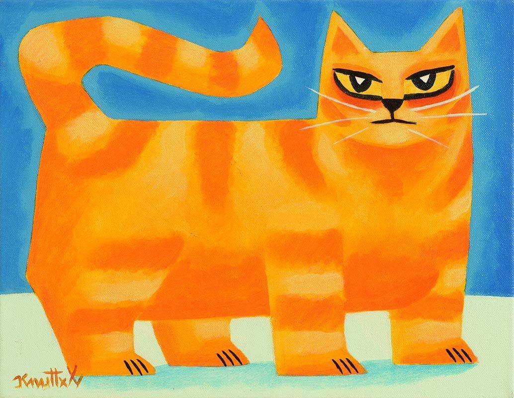 Graham Knuttel, Ginger Cat at Morgan O'Driscoll Art Auctions