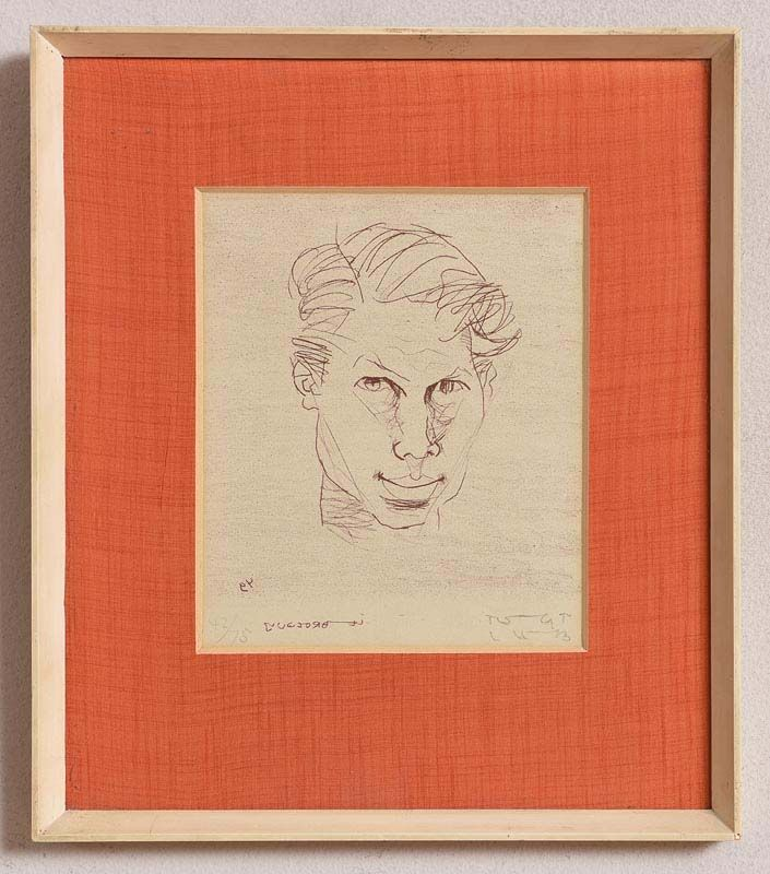 7df7ea9fe1368 Lot 117 - 'Self Portrait' by Louis Le Brocquy | Morgan O'Driscoll