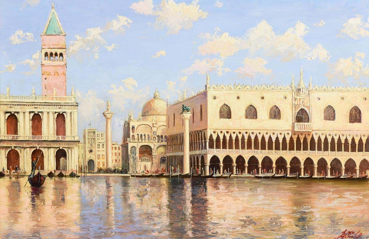Yuri Studeniken, Venetian Midday - Doges Palace at Morgan O'Driscoll Art Auctions