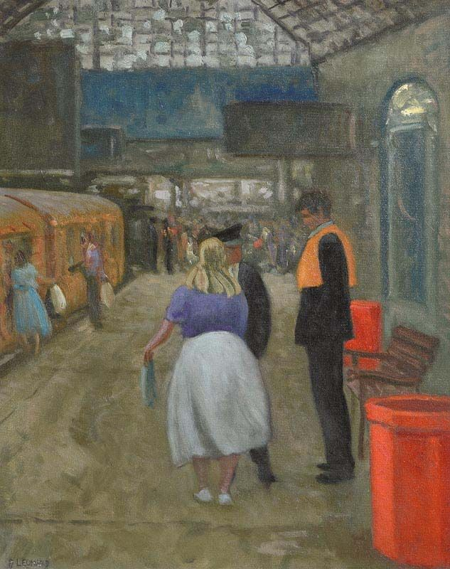Patrick Leonard, Connolly Station at Morgan O'Driscoll Art Auctions