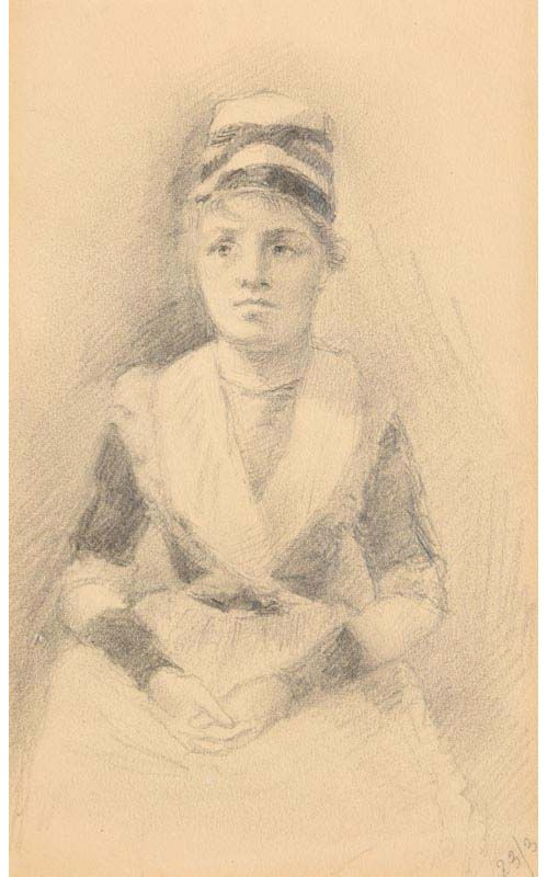 Sarah Henrietta Purser, Portrait of a Young Lady at Morgan O'Driscoll Art Auctions