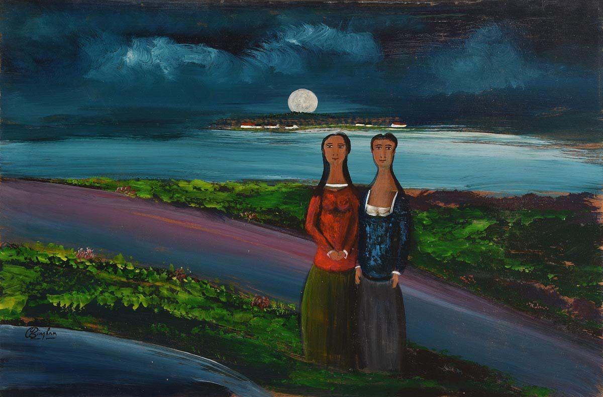 Jimmy Bingham, Under the Moonlight at Morgan O'Driscoll Art Auctions