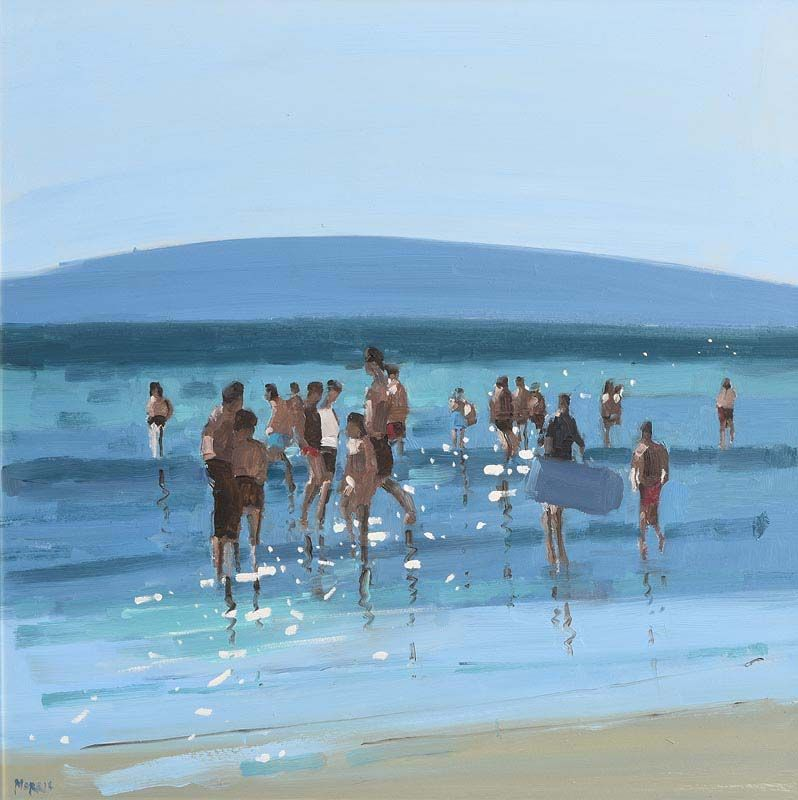 John Morris, Family Day Out, Ballybunion Beach at Morgan O'Driscoll Art Auctions