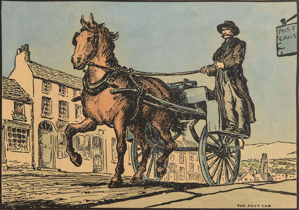 Jack Butler Yeats, The Post Car at Morgan O'Driscoll Art Auctions