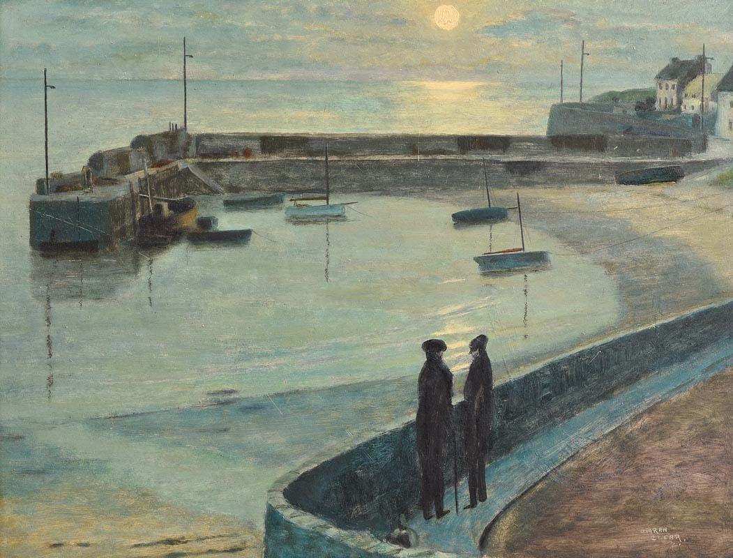 Ciaran Clear, Low Tide, Rush Harbour at Morgan O'Driscoll Art Auctions