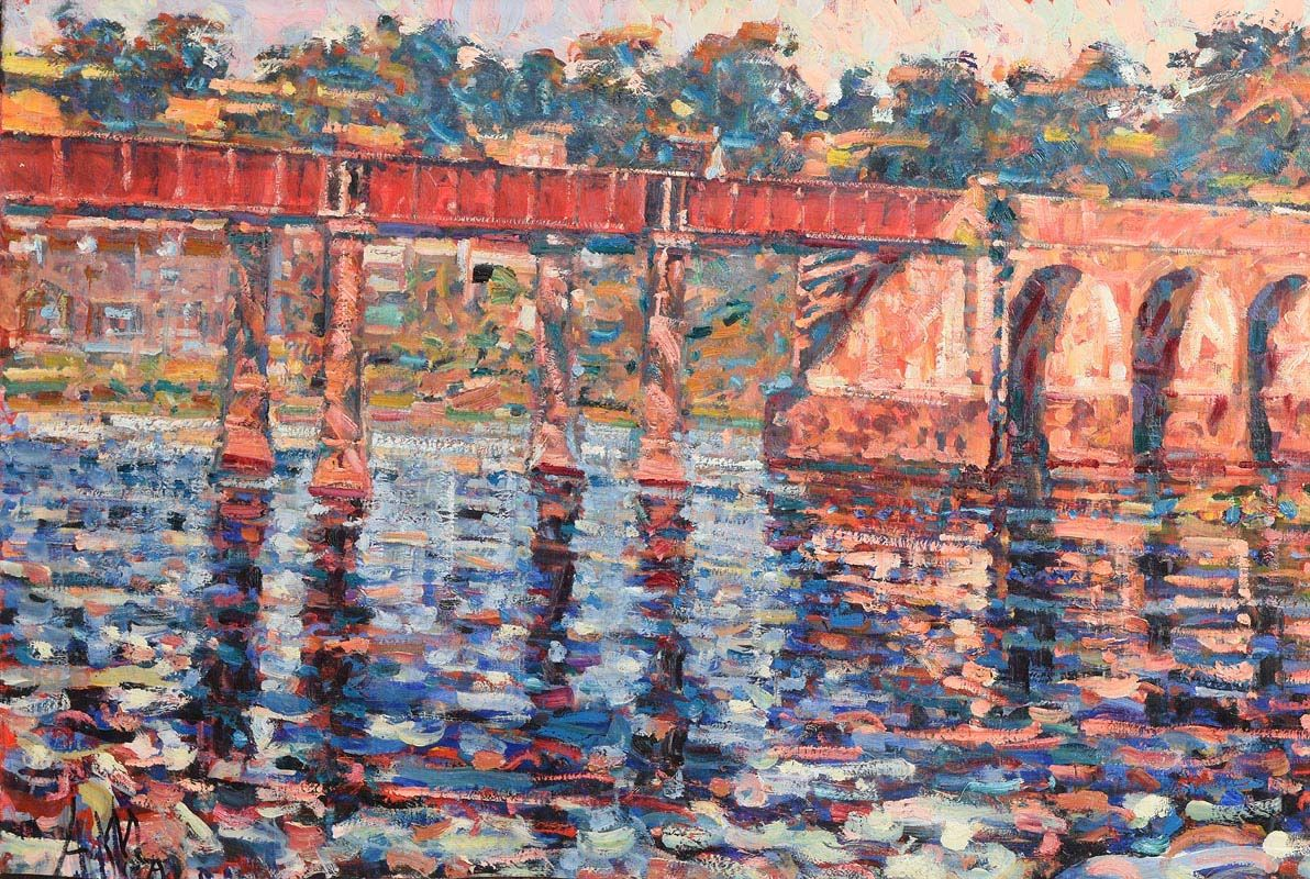 Arthur K. Maderson, The Red Bridge, Cappoquinn at Morgan O'Driscoll Art Auctions