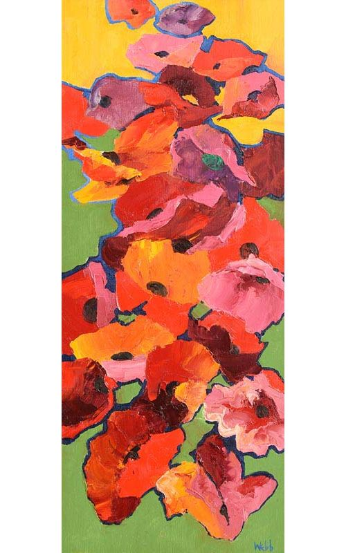 Kenneth Webb, Poppies at Morgan O'Driscoll Art Auctions