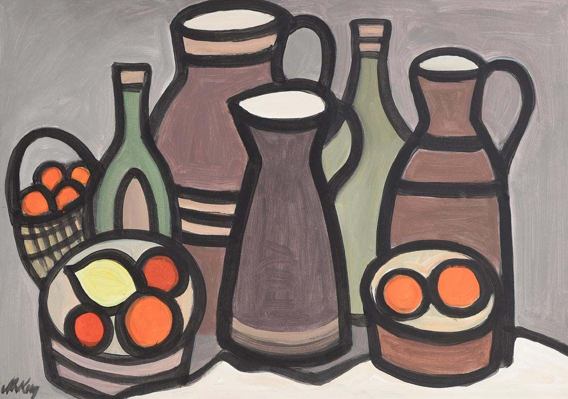 Markey Robinson, Still Life on Tabletop at Morgan O'Driscoll Art Auctions