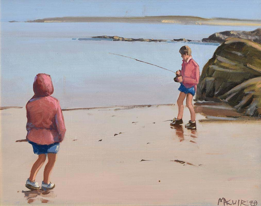 Cecil Maguire, When We Were Young (1989) at Morgan O'Driscoll Art Auctions
