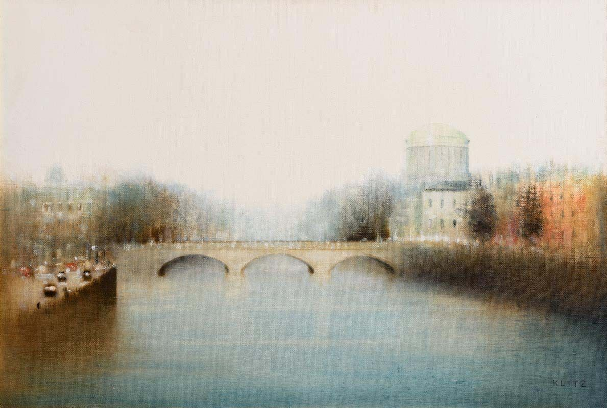 Anthony Robert Klitz, Four Courts, The River Liffey, Dublin at Morgan O'Driscoll Art Auctions