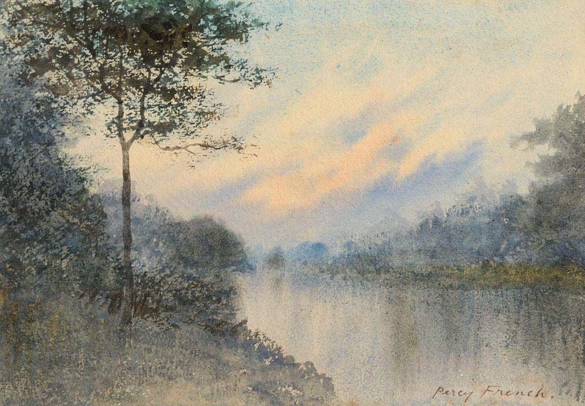 Percy French, Riverscape at Sunset at Morgan O'Driscoll Art Auctions