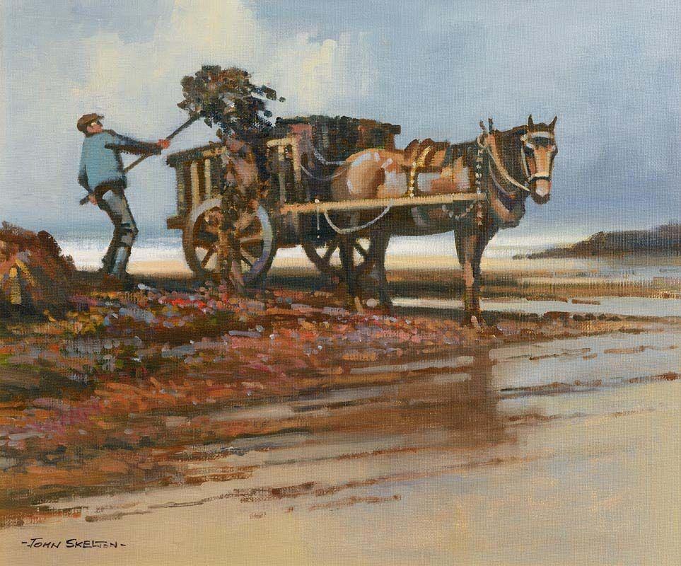 John Skelton, Seaweed Harvest, Mannin Bay, Connemara at Morgan O'Driscoll Art Auctions