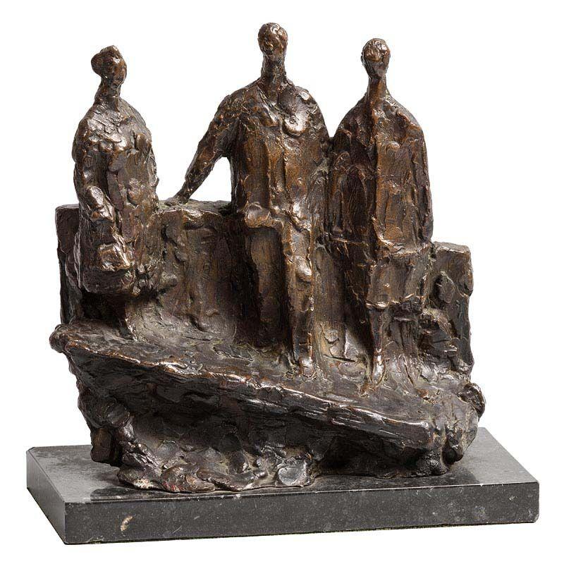 Melanie Le Brocquy, Figures on a Bridge (1982) at Morgan O'Driscoll Art Auctions