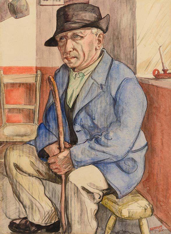 Harry Aaron Kernoff, Working Man (Seamus Beag, origin Kerry) (1933) at Morgan O'Driscoll Art Auctions